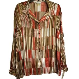 NWT Allison Daley Women's Button Down Blouse 24W